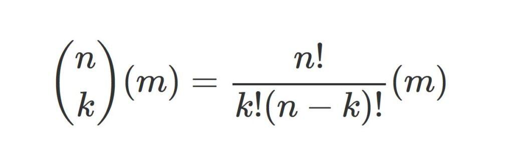 formula de probabilidad de ganar el baloto