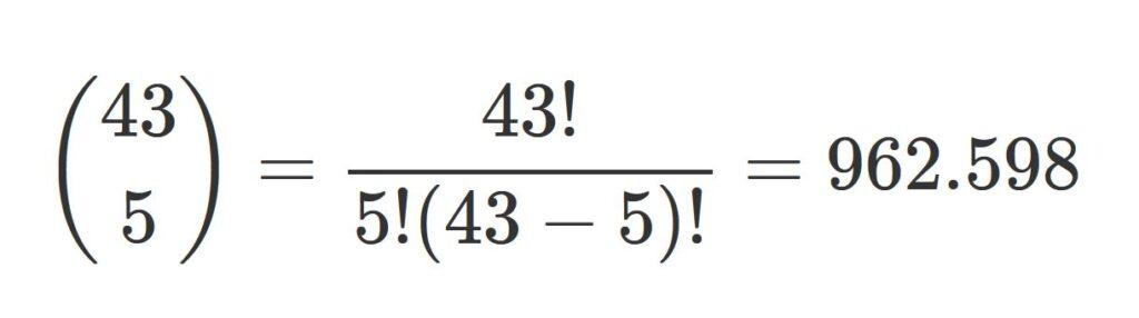 probabilidad de ganar el baloto usando teoria combinatoria